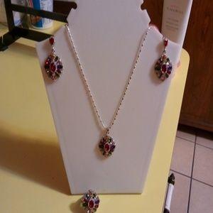 Women Sterling silver necklace set